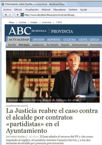 Antonio Casimiro Gavira imputado por el juez