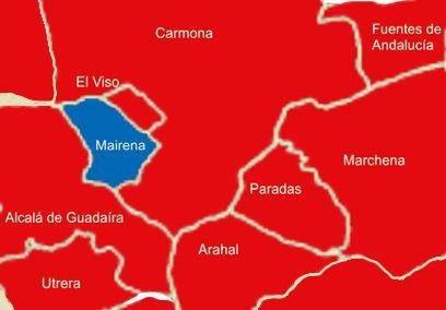 Predominio del PSOE, entorno a Mairena del Alcor