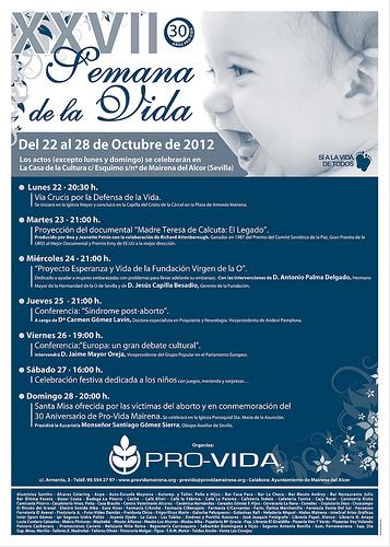 Semana de la Vida en Mairena de Alcor. Del 22 al 28 de octubre de 2012.