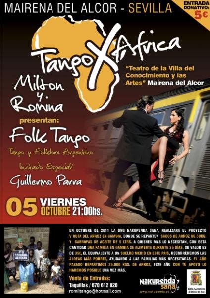 Tango X África de Milton y Romina
