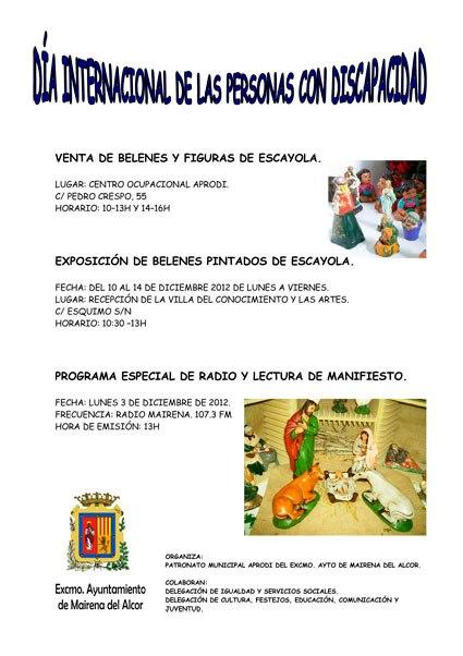 Cartel de actividades del Patronato Municipal APRODI
