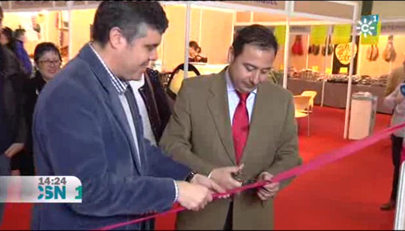 Juan Manuel López y Ricardo Sánchez inaugurando oficialmente la Feria.