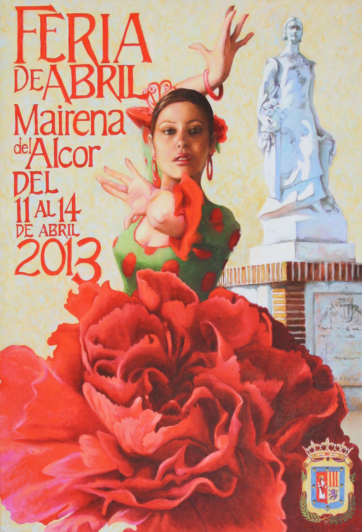 Cartel de La Feria de Mairena del Alcor 2013 obra de Chema Hedrera