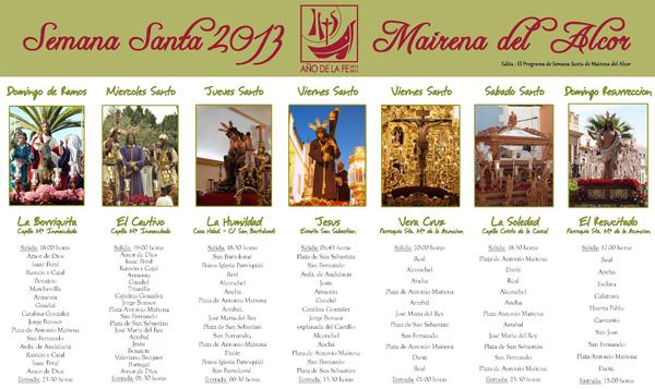 El Programa de Semana Santa de Mairena del Alcor 2013