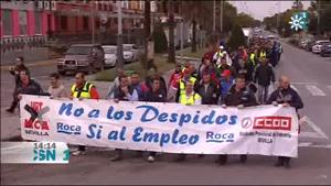 Marcha de los trabajadores de Roca en Mairena del Alcor