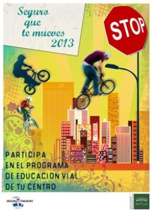 Cartel del programa de seguridad vial 'Seguro que te mueves'