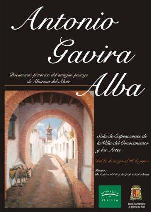 Cartel de la exposición Documento pictórico del antiguo paisaje de Mairena del Alcor