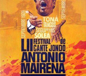 Cartel del LII Festival de Cante Jondo Antonio Mairena