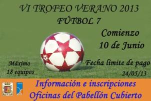 Cartel del Trofeo de Verano de Fútbol 7