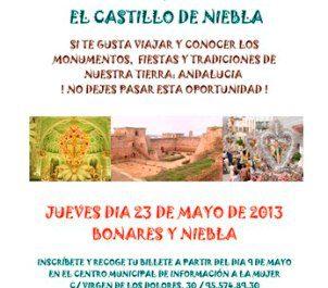 Cartel del Viaje a las Cruces de Bonares y a Niebla
