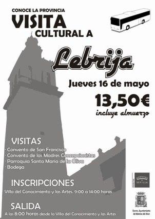 Cartel de la visita a Lebrija