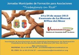 Cartel de las Jornadas Municipales de Formación para Asociaciones 'Trabajemos en Red'
