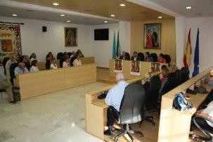 Visita de un grupo de turistas estadounidenses al Ayuntamiento de Mairena del Alcor