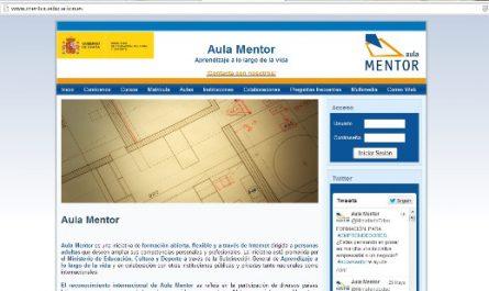 Portada del portal web Aula Mentor