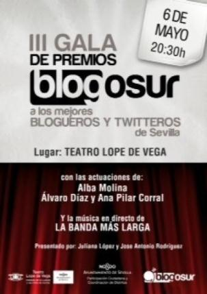 Cartel de la III Gala de Premios Blogosur