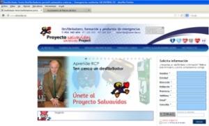 Captura de la web del Proyecto Salvavidas