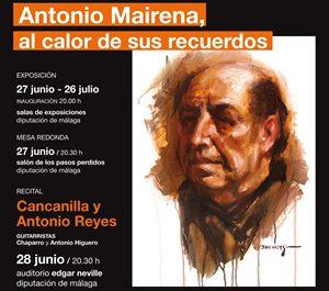 Cartel de los actos dedicados a Antonio Mairena en la III Bienal del Arte Flamenco de Málaga