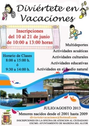 Cartel del programa Diviértete en Vacaciones