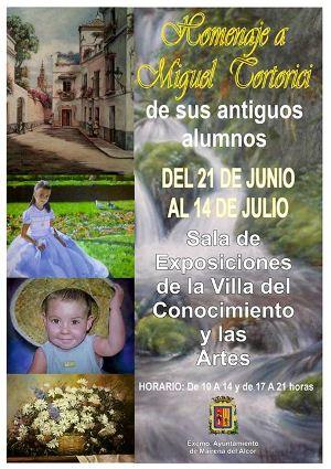 Cartel de la exposición Homenaje a Miguel Tortorici