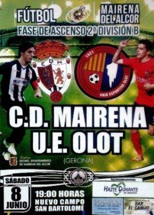 Cartel del partido CD Mairena-UE Olot