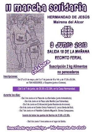 Cartel de la II Marcha Solidaria de la Hermandad de Jesús