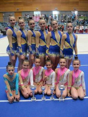 Las chicas del Club Maharana de Gimnasia Rítmica