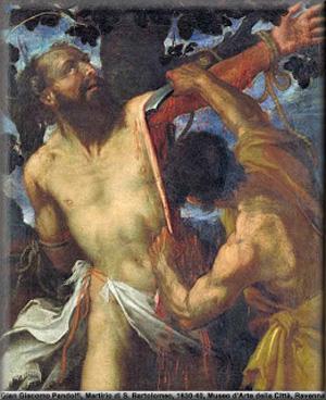 """Cuadro """"El Martirio de San Bartolomé, de Giacomo Pandolfi"""