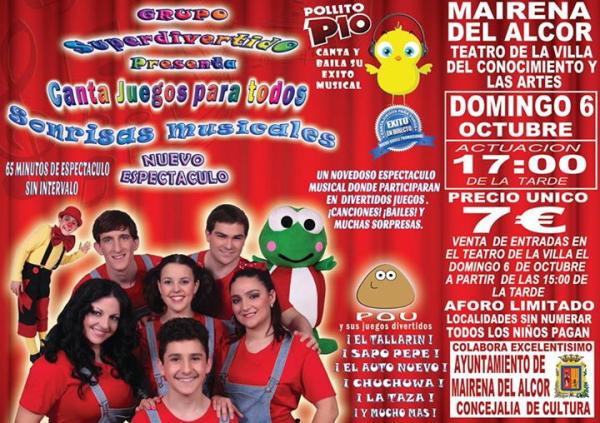 El grupo infantil actuará el domingo a las 17:00 de la tarde