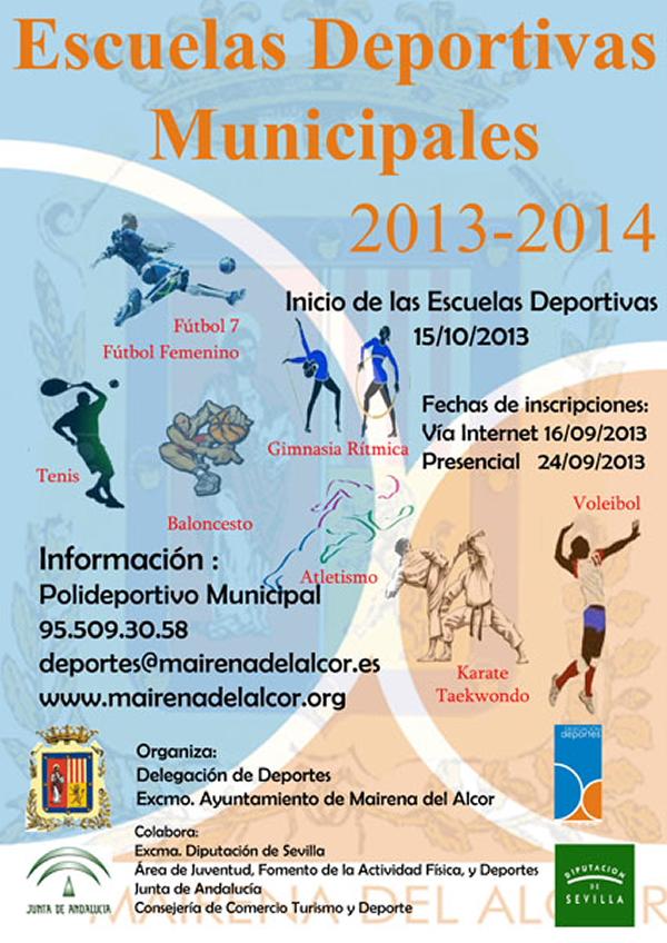 Cartel Escuelas Deportivas
