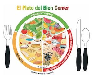 Escuela alimentación plato