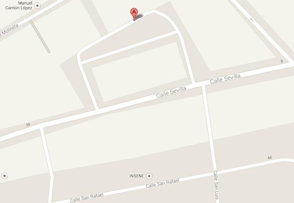 Mapa zona Calle Arquitecto Luis Panea_600