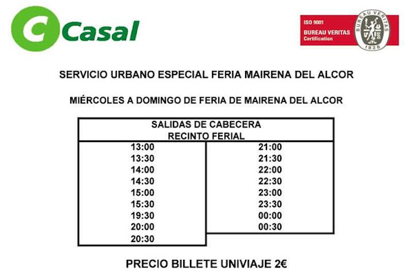 Horarios bus Casal especial Feria_600