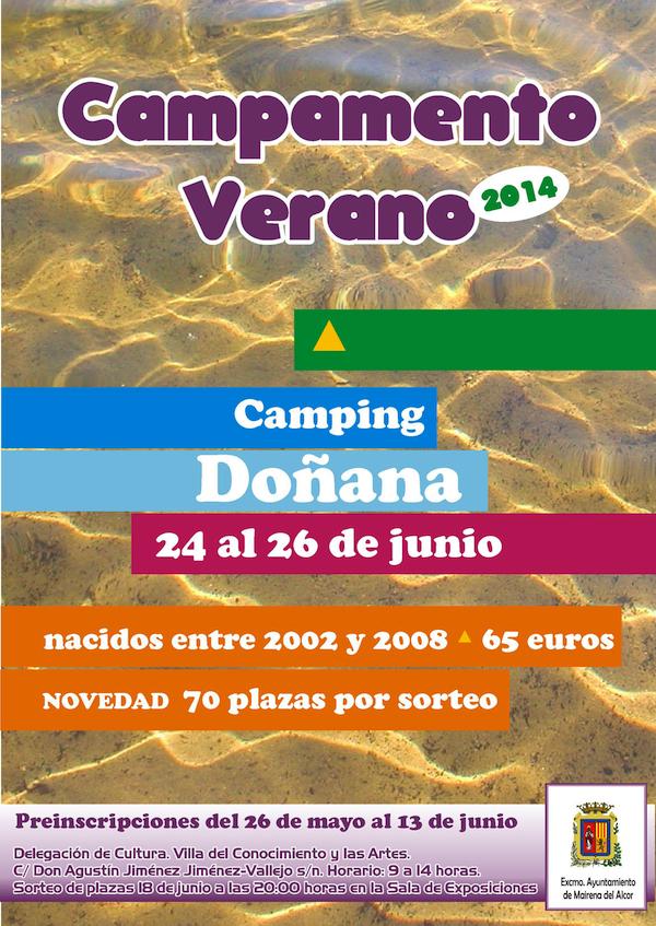 Cartel Campamento Verano 2014 Doñana_600