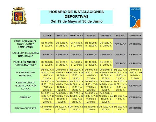 Horarios Deportes 19Mayo 30Junio_600