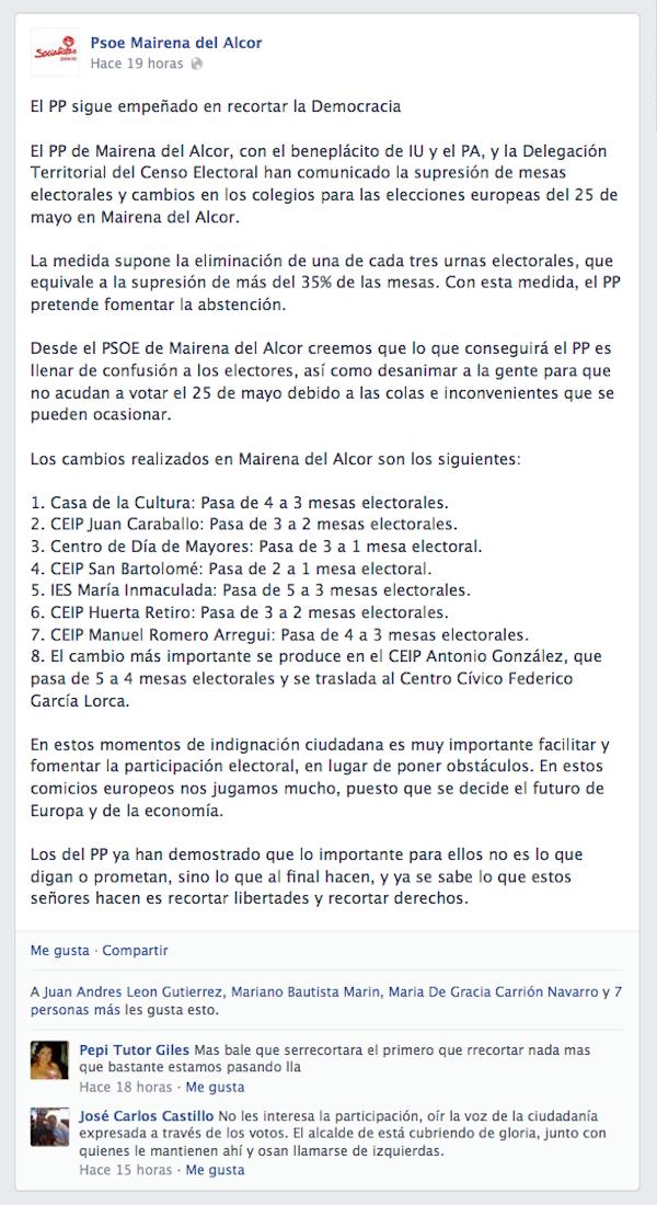 Mentira PSOE mesas electorales 25M_600