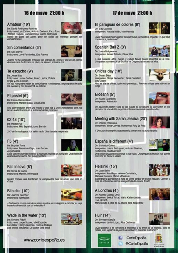 Programa Festival Cortos