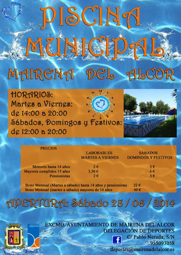 Cartel Apertura Piscina Verano 2014_600
