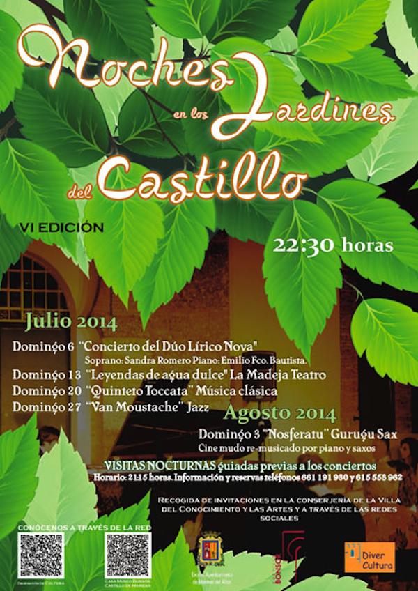 Cartel Noches Jardines Castillo 2014_600