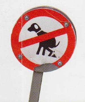 Prohibición cacas perro