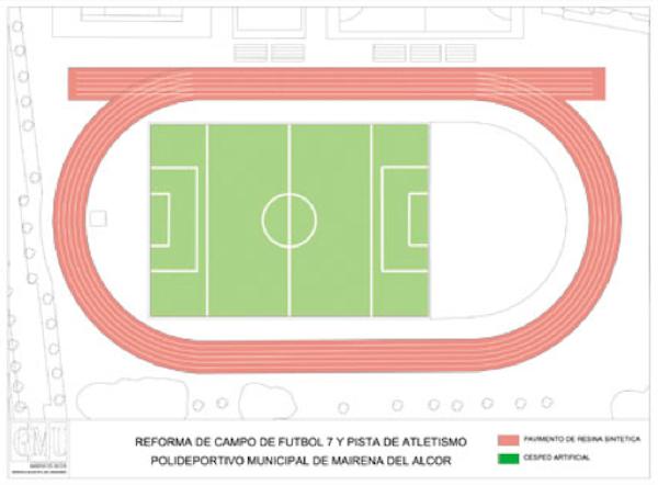 Nuevo campo fútbol 7 y pistas atletismo polideportivo
