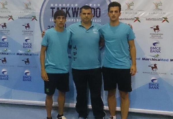 Jesús Morales y Javier Docsion medallas taekwondo_600