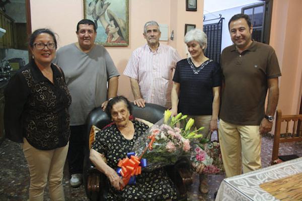 Dolores Mudarra Pérez cumple 100 años