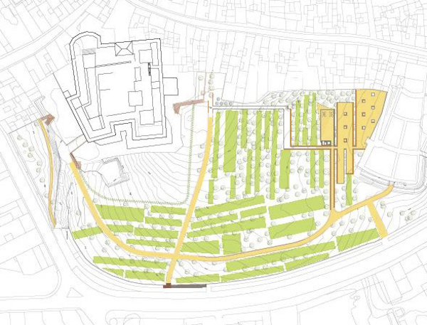 Plano parque olivar del Castillo