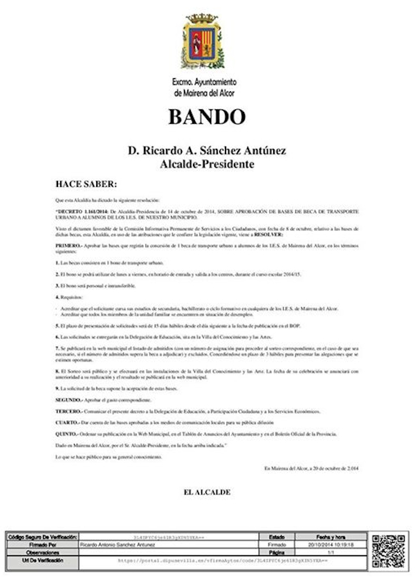 Bando Becas transporte Instituto_600