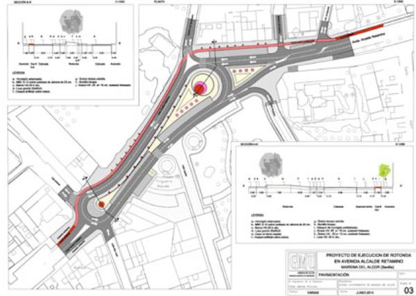 Obras cruce carretera Brenes plano