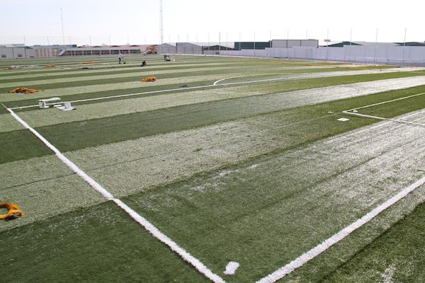 Las obras del nuevo campo de f tbol de c sped artificial - Campo de futbol del valencia ...