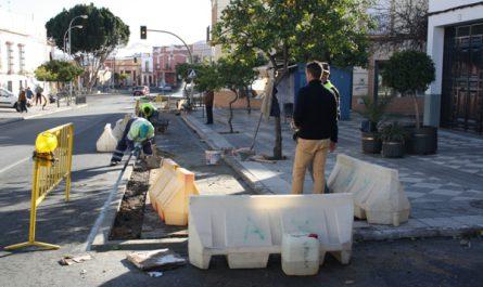 Obras carril bici calle Benajete