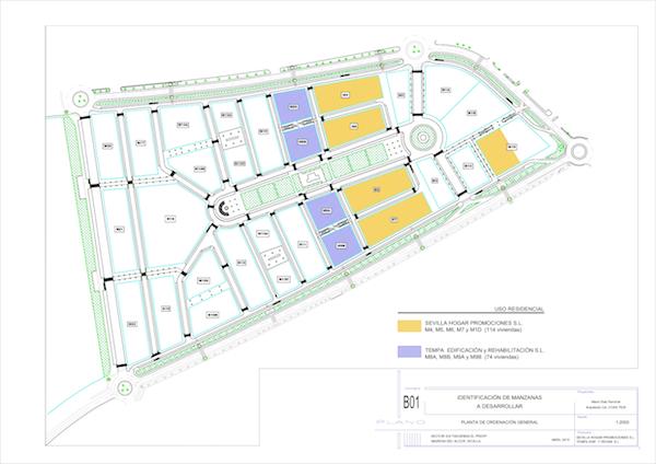 Plano proyecto nuevas casas El Prior_600
