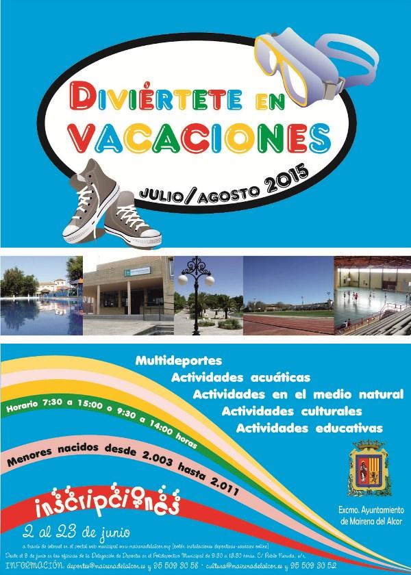 Cartel Diviertete en vacaciones 2015