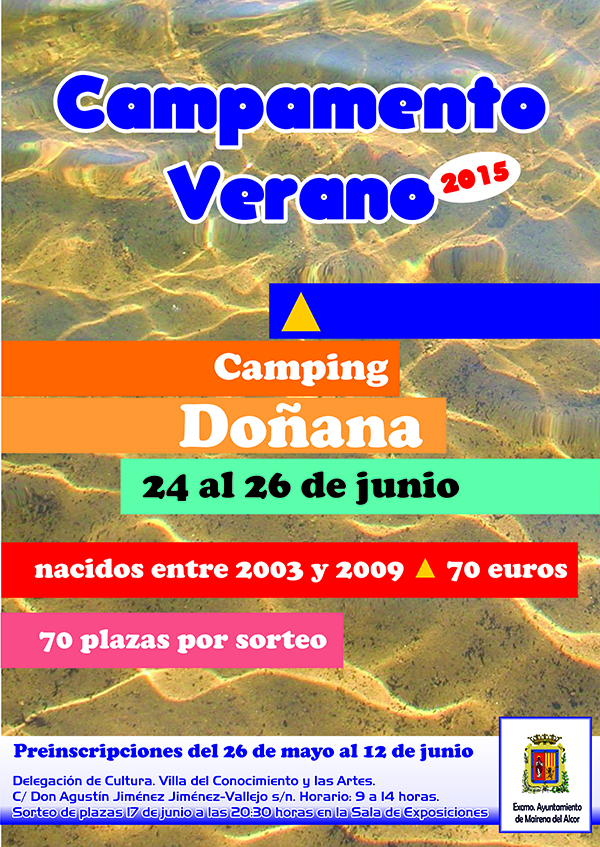CartelCampamentoVerano2015Doñana(1)